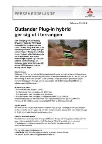 Outlander Plug-in hybrid ger sig ut i terrängen