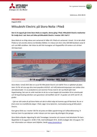 Mitsubishi Electric på Stora Nolia i Piteå