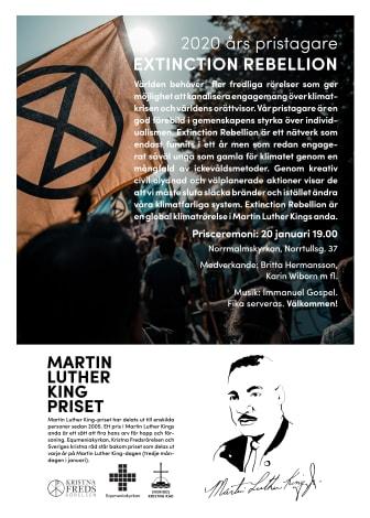 Affisch Martin Luther King-priset 2020