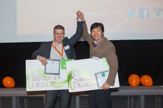 Cyclicor vinnare av Miljö och Energi samt totalvinnare Venture Cup Syd hösten 2013
