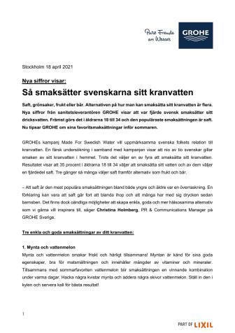 Så smaksätter svenskarna sitt kranvatten
