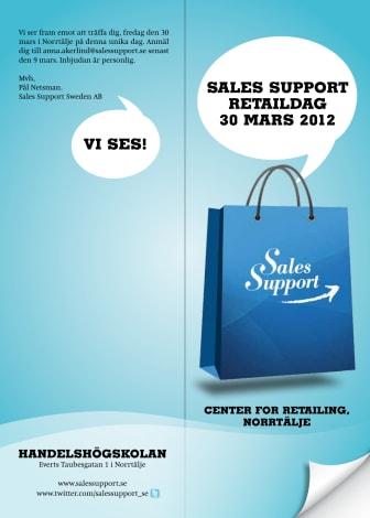 Sales Support arrangerar unik Retaildag för sina kunder - lottar ut 3 platser till dagen!