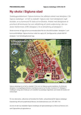 Ny skola i Sigtuna stad