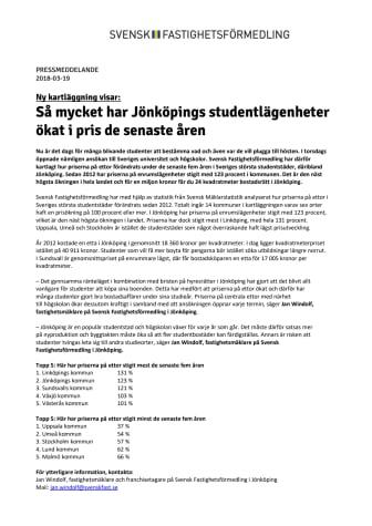 Ny kartläggning visar: Så mycket har Jönköpings studentlägenheter ökat i pris de senaste åren