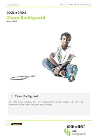Team Bactiguard news mars 2013