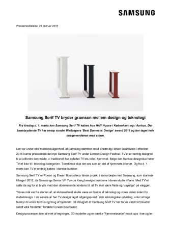 Samsungs Serif TV bryder grænsen mellem design og teknologi
