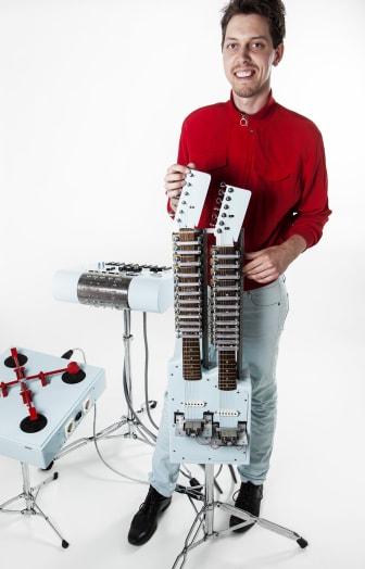 Popmaskinen - ett elektromekaniskt enmansband. Foto: Anna Gerdén