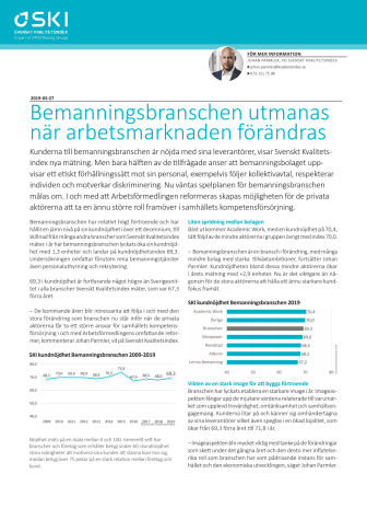Bemanningsbranschen utmanas när arbetsmarknaden förändras