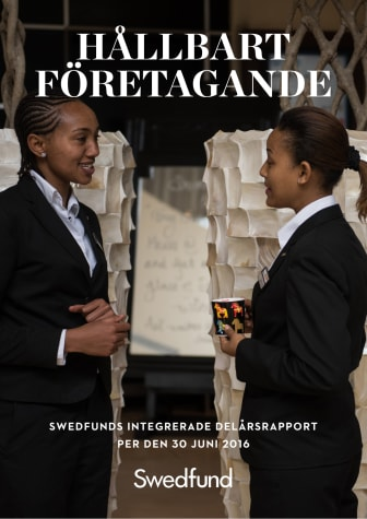 Swedfunds Integrerade delårsrapport april - juni 2016
