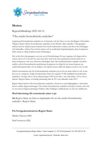 Motion biomedicinska analytiker.pdf
