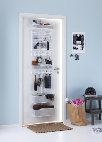 Elfa Utility Door and Wall rack för hallen