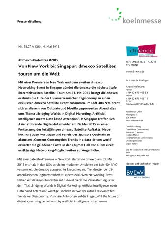 Von New York bis Singapur: dmexco Satellites touren um die Welt