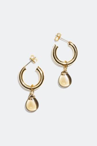Earrings with semi precious stones -159 kr