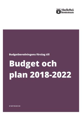Budget och plan 2018-2022
