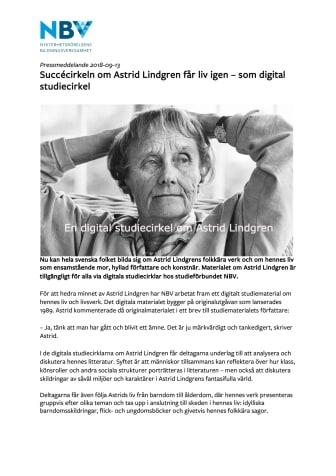 Succécirkeln om Astrid Lindgren får liv igen – som digital studiecirkel