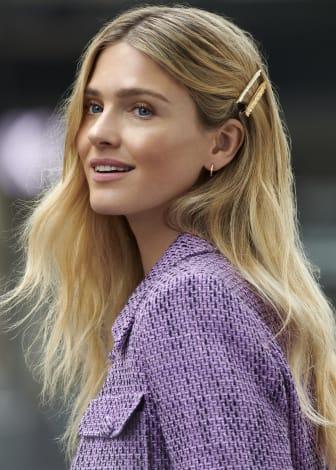 Glitter Model Image - Hair Clips & Earrings