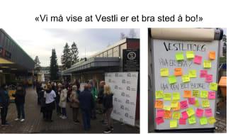 Stort engasjement for Vestli torg