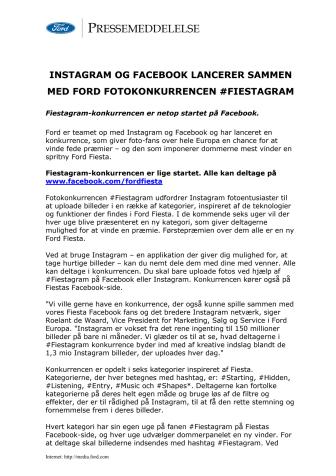 VIND EN FIESTA! - DELTAG I FORDS FOTO-KONKURRENCE #FIESTAGRAM