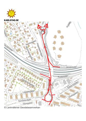 Trafikomledning_Rudsmotet_mot Rud Färjestad