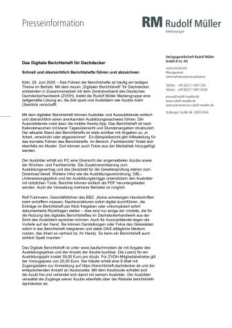 Das Digitale Berichtsheft für Dachdecker