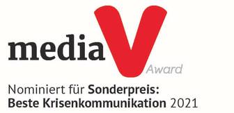 "Media V Award ""Beste Krisenkommunikation"""