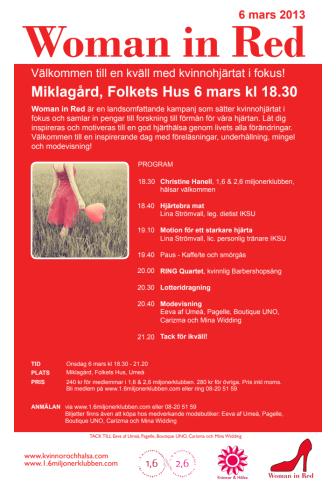 Woman in Red i Umeå – en kväll med kvinnohjärtat i fokus!