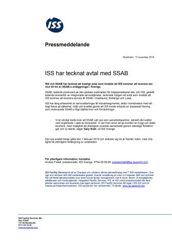 ISS har tecknat avtal med SSAB