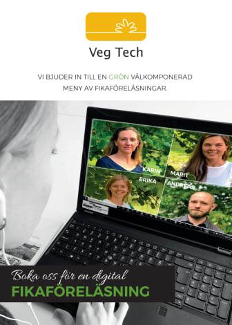 Dags för en fika? - Veg Tech bjuder in till kunskapshöjande fikaföreläsningar