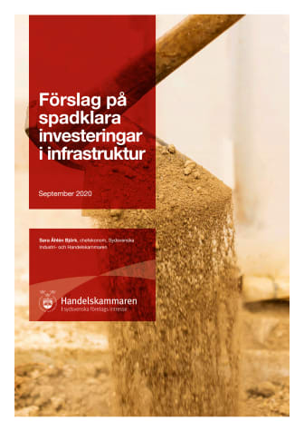Förslag på spadklara investeringar i infrastruktur