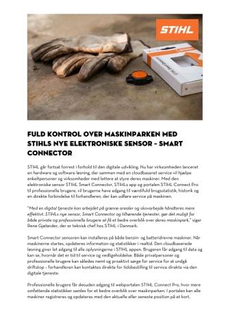 Fuld kontrol over maskinparken med den nye elektroniske sensor -  STIHL Smart Connector