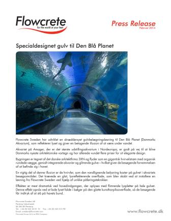 Specialdesignet gulv til Den Blå Planet