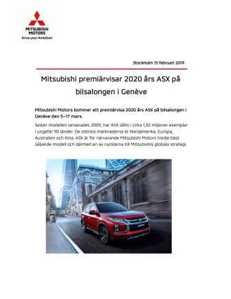 Mitsubishi premiärvisar 2020 års ASX på bilsalongen i Genève