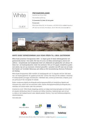 White Guide Sverigesommar 2020 visar vägen till lokal gastronomi