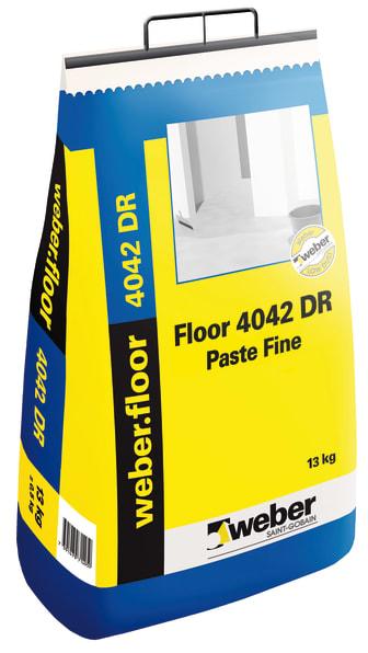 weber.floor 4042 paste fine DR är ett dammreducerat finspackel från Weber