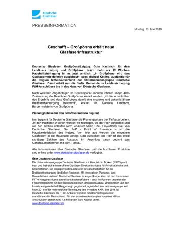 Geschafft – Großpösna erhält neue Glasfaserinfrastruktur