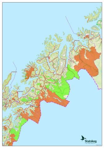 Oversikt over jaktfelt som er åpne for vinterjakt i Troms