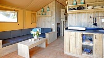 Nya tältstugor i Skånes Djurpark