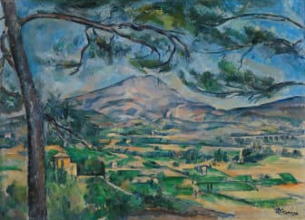Paul Cézanne: Montagne Sainte-Victoire med stort furutre / Mont Sainte-Victoire with Large Pine (circa 1887), The Samuel Courtauld Trust, The Courtauld Gallery, London