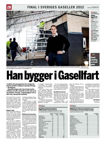 Titanias VD intervjuad av Dagens Industri angående Årets Gasell