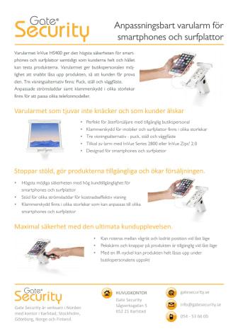 Anpassningsbart varularm för smartphones och surfplattor