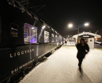 SJ Nattåg på perrongen i Åre