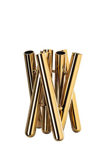 R_Seven_Contour_Gold_Vase_21_cm