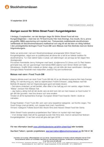 Återigen succé för Sthlm Street Food i Kungsträdgården
