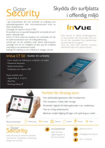 Varularm från Gate Security - InVue CT50, Skydda din surfplatta