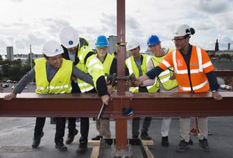 Invigningsdrag för byggnationen av Navet