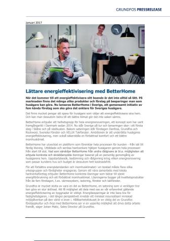 Lättare energieffektivisering med BetterHome