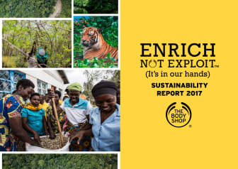 The Body Shop publicerar 2017 Enrich Not Exploit™ hållbarhetsrapport