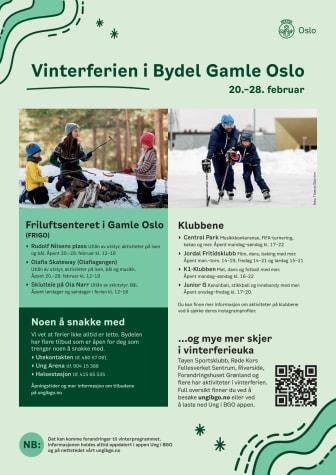 Aktiviteter for barn og unge i vinterferien