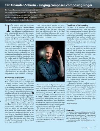 Carl Unander Scharin – singing composer, composing singer