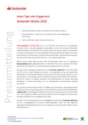 Sieben Tage voller Engagement -  Santander Woche 2019